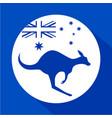 australia kangaroo icon vector image vector image