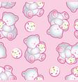 babear pink pattern vector image vector image