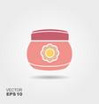 baby cream jar flat icon with shadows vector image vector image