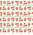 background with cherry and strawberry vector image vector image