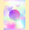 bauhaus background with liquid shapes dynamic vector image vector image