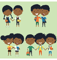 Best friends african american school kids vector image vector image