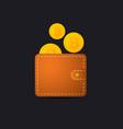bitcoin wallet icon vector image