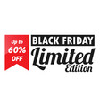 black friday for flyers vector image vector image