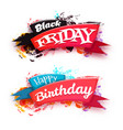black friday sale banner with ribbon isolated on vector image