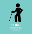 Blind Disabled Black Symbol Graphic vector image vector image