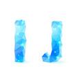 Blue polygonal font vector image