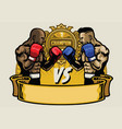boxing fight tournament vector image vector image