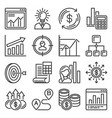 business plan and planning icons set vector image vector image
