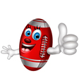 Cartoon American football thumb up vector image vector image