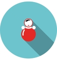 Children icon red toy roly poly vector image