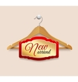 Clothes hanger label new arrival vector image