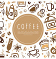 coffee banner template with text coffee shop vector image
