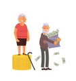 concept of retirement money plan vector image