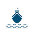 cruise ship logo vector image vector image