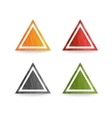 Design triangle logo element vector image vector image