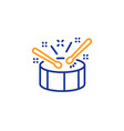drums with drumsticks line icon music sign vector image