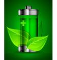 ecology alternative battery leaves 10 v vector image vector image