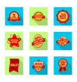 emblem and badge icon vector image vector image