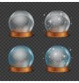 Empty Magic Crystal Ball Set vector image