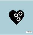 gear in heart icon gear in heart icon eps10 gear vector image vector image