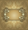 Gold banner with beautiful pattern vector image vector image
