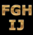 Gold letters set f-j vector | Price: 1 Credit (USD $1)
