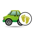 green ecology car footprint concept vector image