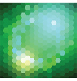 Green Hexagonal Background vector image