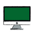 green screen monitor computer device vector image vector image