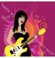 guitar girl vector image vector image