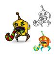 Halloween monsters spooky isolated freaks set vector image vector image