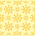 hand drawn yellow sun planet seamless pattern vector image vector image