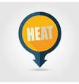 Heat pin map flat icon Summer Vacation vector image vector image