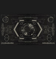hud futuristic display tech and science vector image vector image
