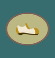 icon in flat design fashion footwear man shoe vector image vector image
