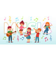 kids playing music children musical instruments vector image vector image