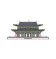 korean landmark symbol an ancient building cartoon vector image vector image