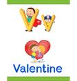 Learning Alphabet V vector image vector image