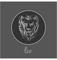 leo astrological zodiac symbol horoscope sign vector image