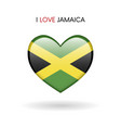 love jamaica symbol flag heart glossy icon on a vector image vector image