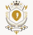 luxury heraldic emblem template blazon vector image