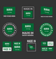 made in saudi arabia labels set made in kingdom vector image