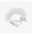 Modern flat linear with Whale vector image vector image