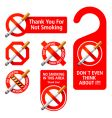 no smoking signs vector image vector image
