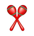 pair of maracas in red vector image vector image