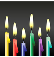 party candles vector image vector image
