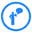 person idea rounded grainy icon vector image