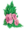 Pink Rose Design vector image vector image