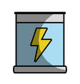 poster with energy hazard symbol vector image vector image